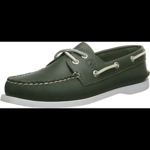 Sperry Top Sider Hunter Green Boat Shoe